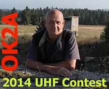 Ivan OK1DAQ během UHF Contestu 2014